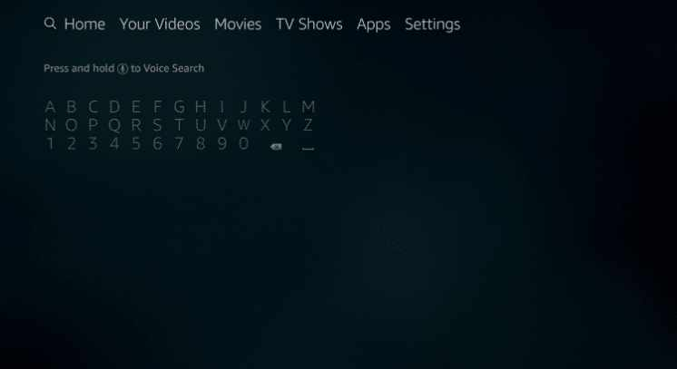 search bar in the firestick home
